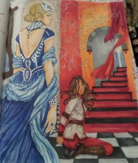 red queen coloring book hashtag Images on Tumblr ...