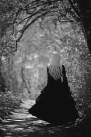 vintage black cloak