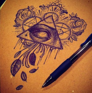 tattoo sketches triangle drawings drawing eye tattoos designs stencil illuminati unique flowers pen draw rose ink watercolor roses pretty books