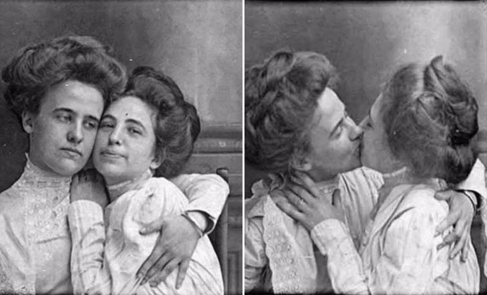 The First Lesbian Lover Selfies Ever Taken, ca. 1900The…
