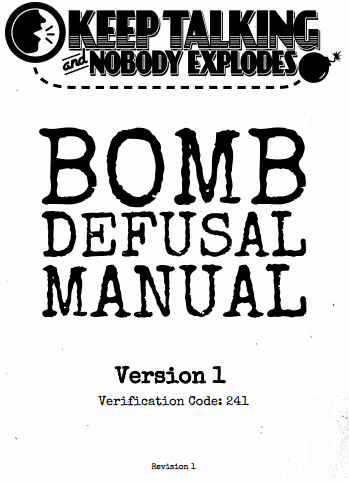 Keep Talking and Nobody Explodes — Getting the Manual