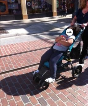 too big for stroller