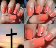 sabzii's nails cross nail design
