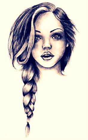 drawing drawings draw easy pen sketch pretty bing teen ink hair