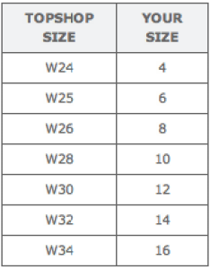 Topshop jeans sizing chart uk sizes also faq rh demilovato style tumblr