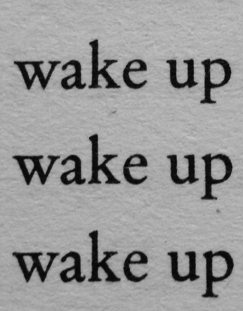 wake up text on Tumblr
