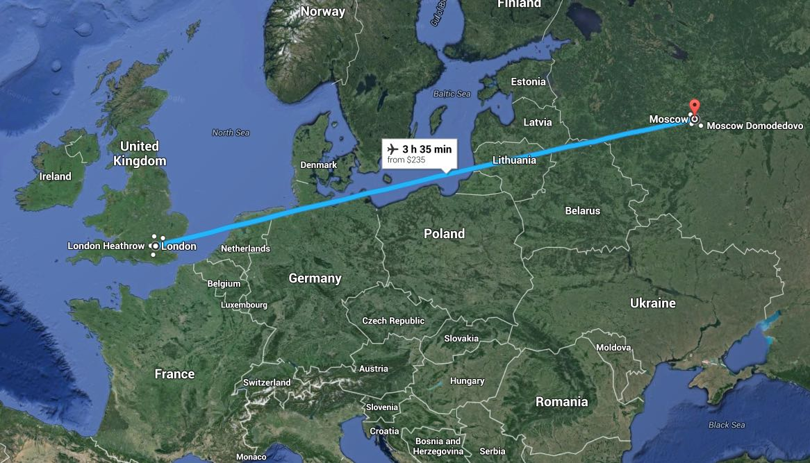 How to find the cheapest flights to Moscow and St. Petersburg from UK