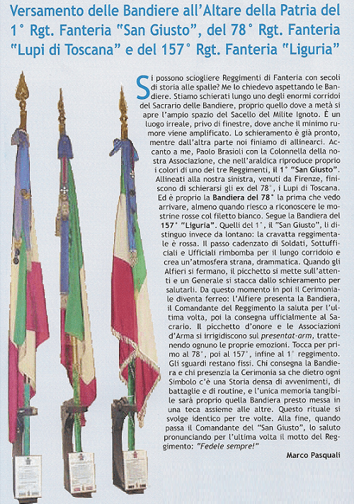 All 78 Tarot Cards Printable Pdf: La Bandiera Del 78° All'Altare Della Patria.
