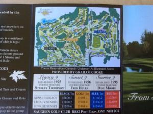 Scorecard - Saugeen Golf