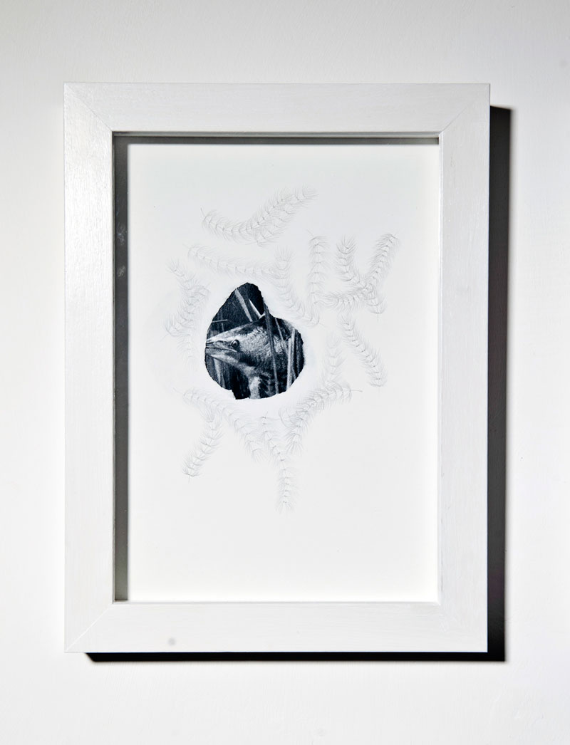 Chiara Dellerba, Untitled#4, mixed media on paper, cm 29,7x21, 2014