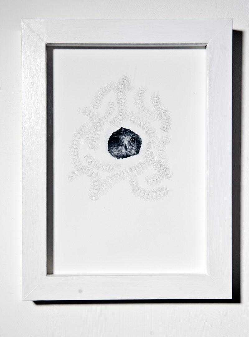 Chiara Dellerba, Untitled #5, mixed media on paper, cm 29,7x21, 2014