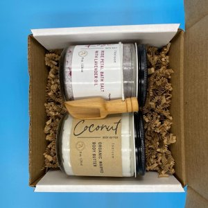 Gift Set Rose Petal Bath Salts and Whipped Body Butter