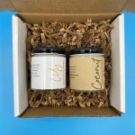 7Abloom gift set coconut body butter and lily bath salt 4oz