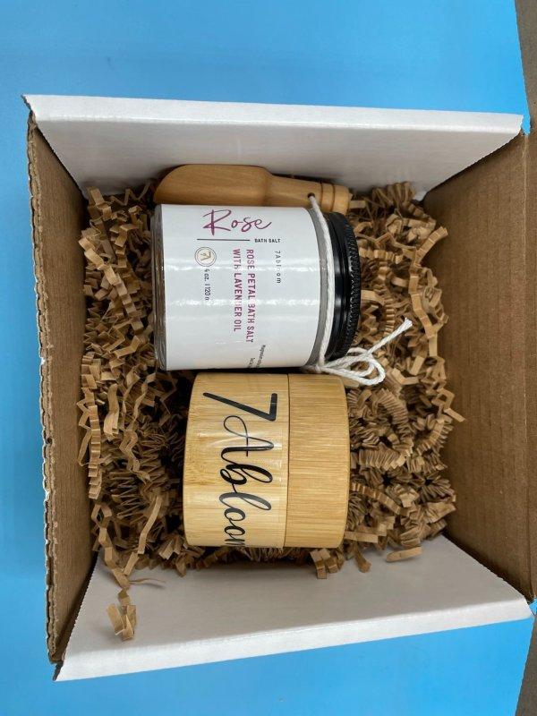 Rose Petal Bath Salt and Moisturizing Butter Gift Set