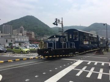 門司港~関門海峡間を走るトロッコ列車