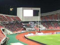 タイでは両ゴール裏から応援する