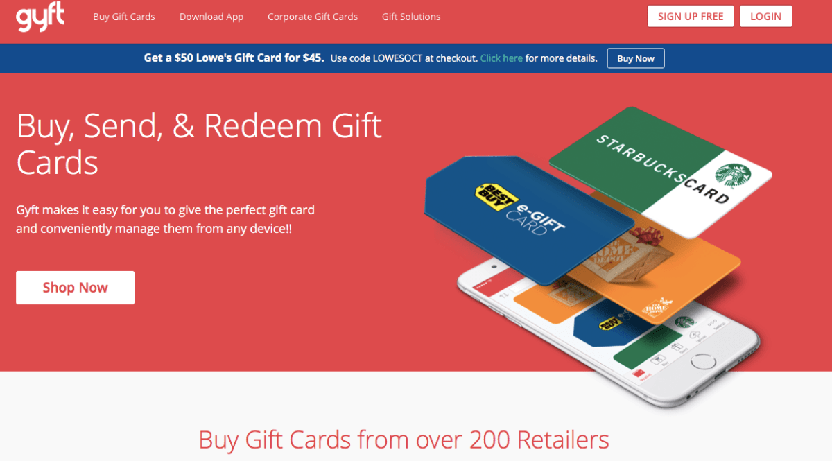Buy gift cards with Gyft.com 7altcoins.com