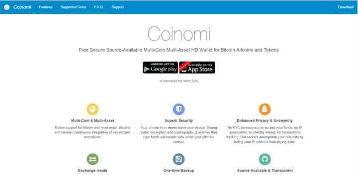 coinomi Bitocoin wallet app