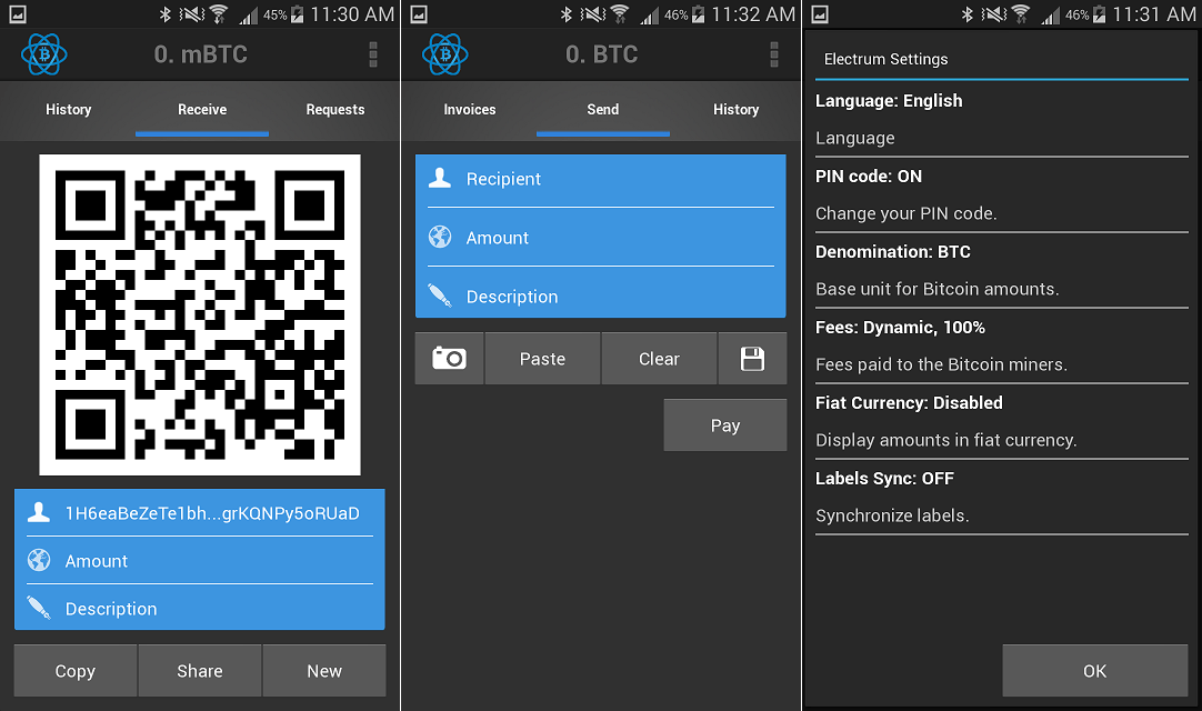 Electrum Bitcoin Wallet App