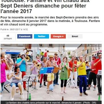 Toulouse. Fanfare et vin chaud aux Sept Deniers dimanche pour fêter l'année 2017