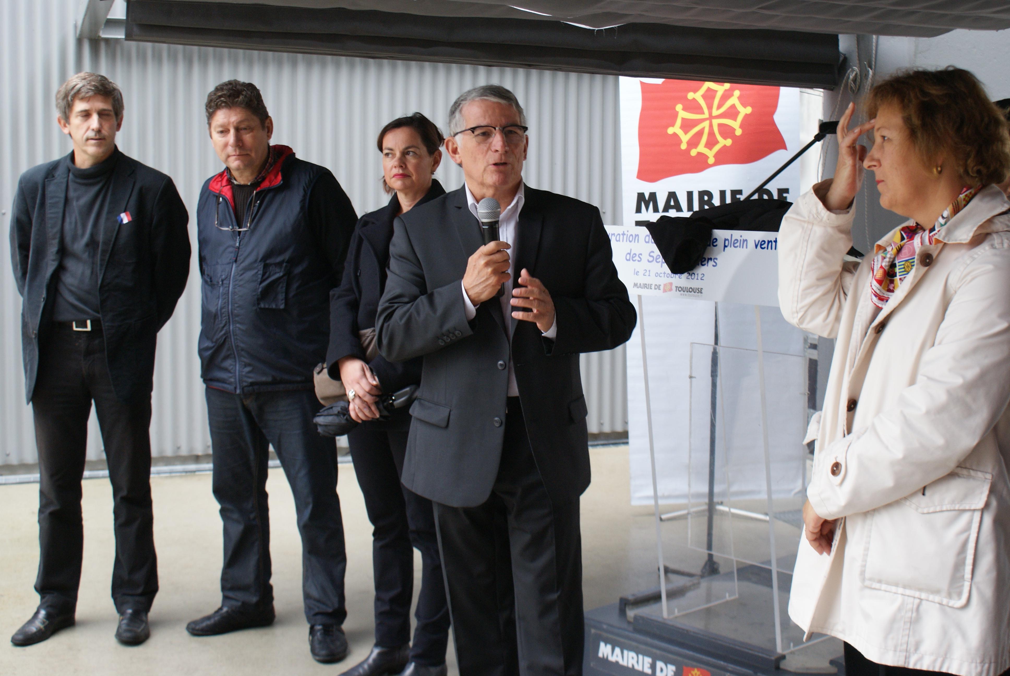 Inauguration marché de plein vent