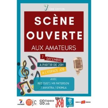 Scène ouverte aux amateurs – Samedi 7 Décembre – 20h00