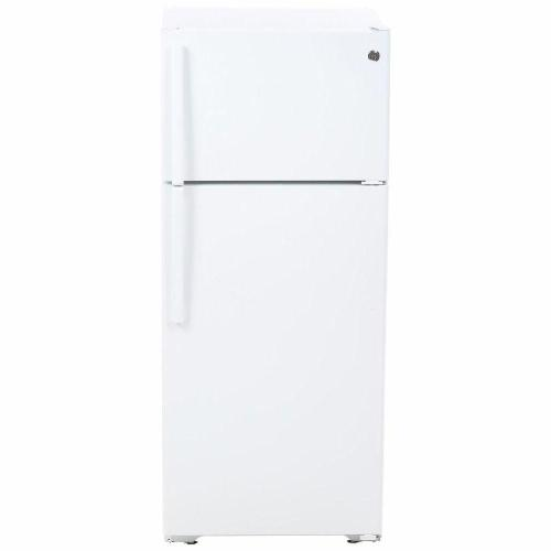 small resolution of ge 17 5 cu ft top freezer refrigerator in white