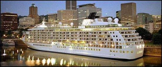Ms The World Cruise Ship A On Sea