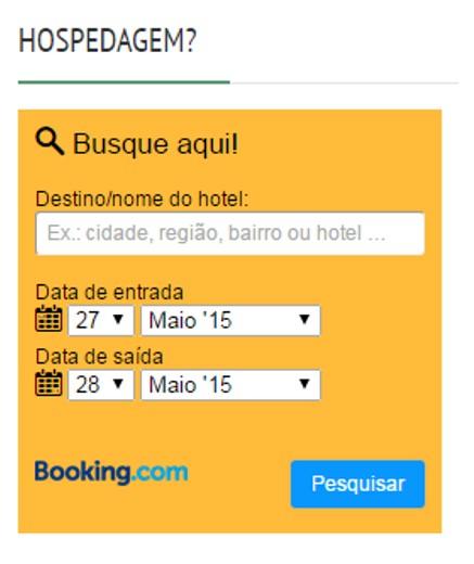 Caixa de busca da Booking