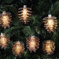 Indoor/outdoor Pinecone Light Strand  Christmas