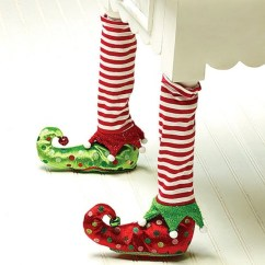Christmas Elf Chair Covers Making Adirondack Cushions Stockings And Slippers Leg |
