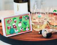 Christmas Holiday Magnetic Wine Glass Charms & Cocktail ...