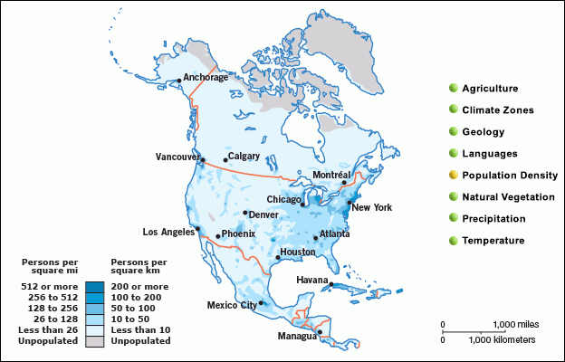 North America - Map and Facts
