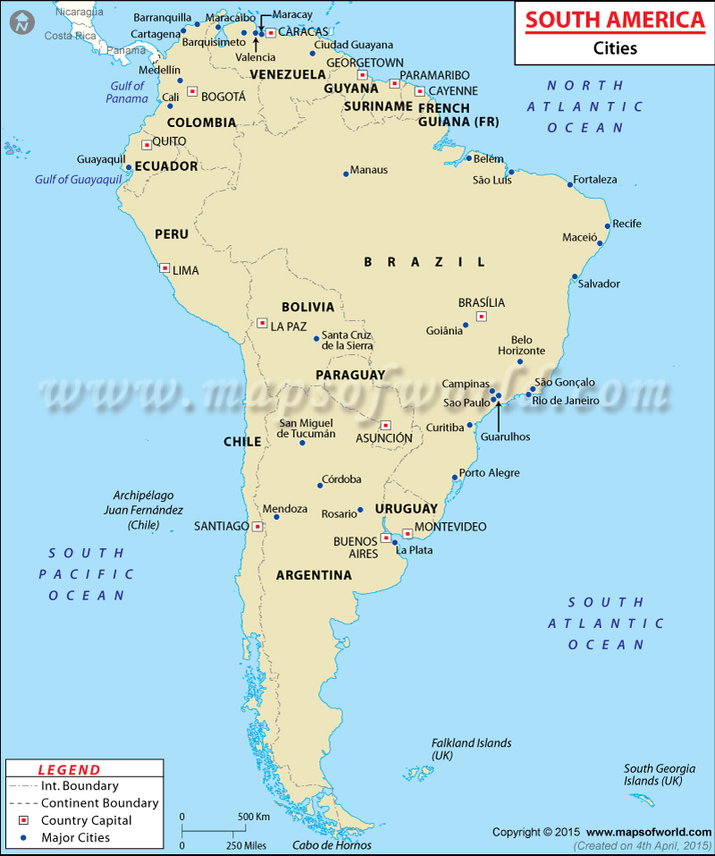 South America Map | Climate, Location & Facts