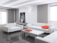 Luxury White Living Room Interior Design