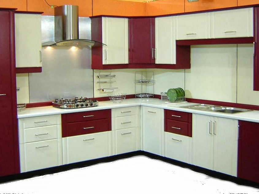 White And Red Modern Kitchen Color  2019 Ideas