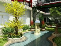 Luxurious Private Residence Mexico Outdoor Landscape ...