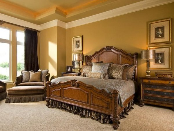 gold bedroom paint colors Best Paint Color Combination To Create Luxury Home