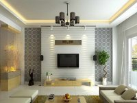Wallpaper Design For Elegant Living Room - 4 Home Ideas