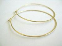 Gold Hoop Earrings, 14k Gold Filled Simple Hoops on Luulla