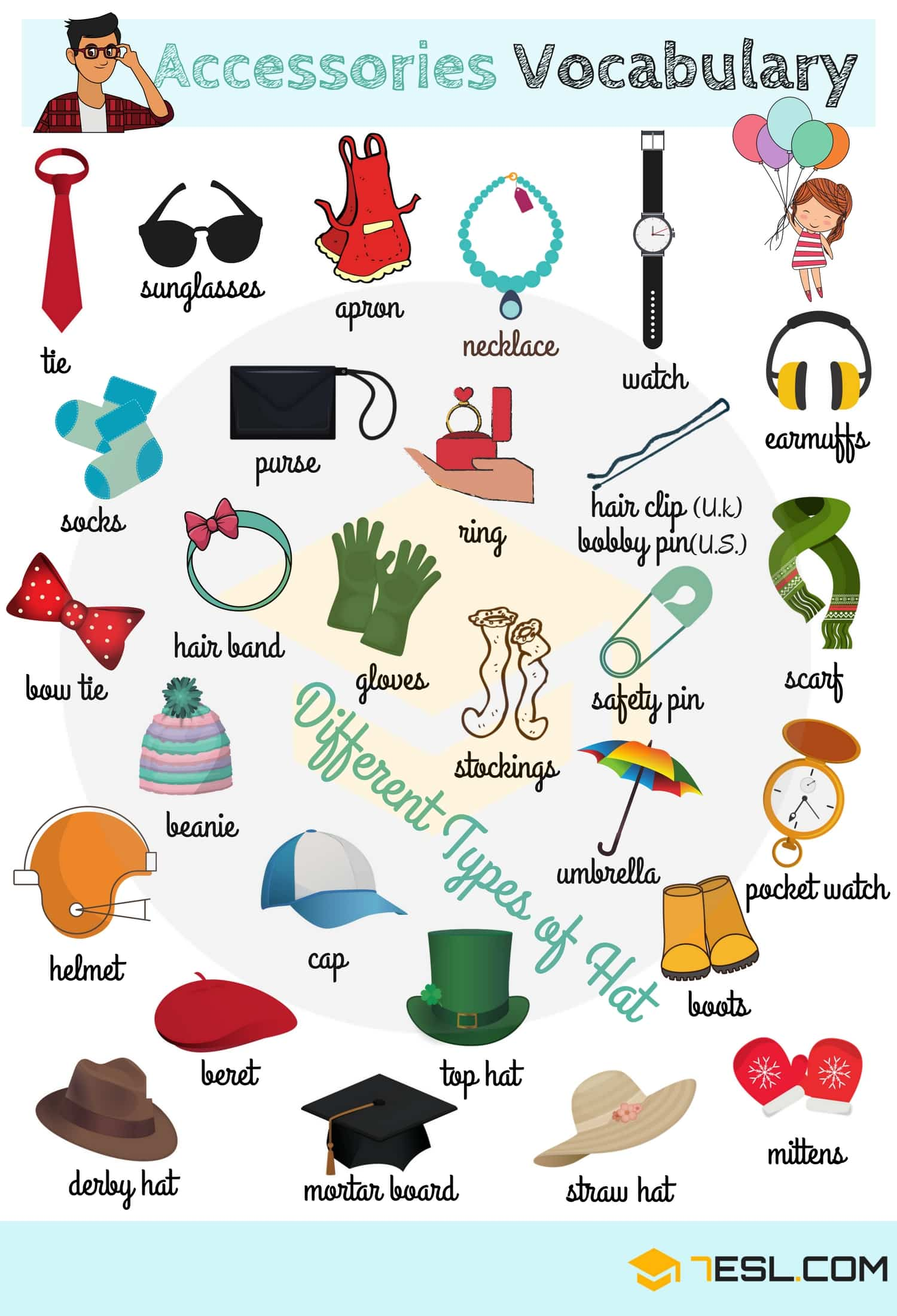 Clothes Vocabulary Names Of Clothes In English With Pictures
