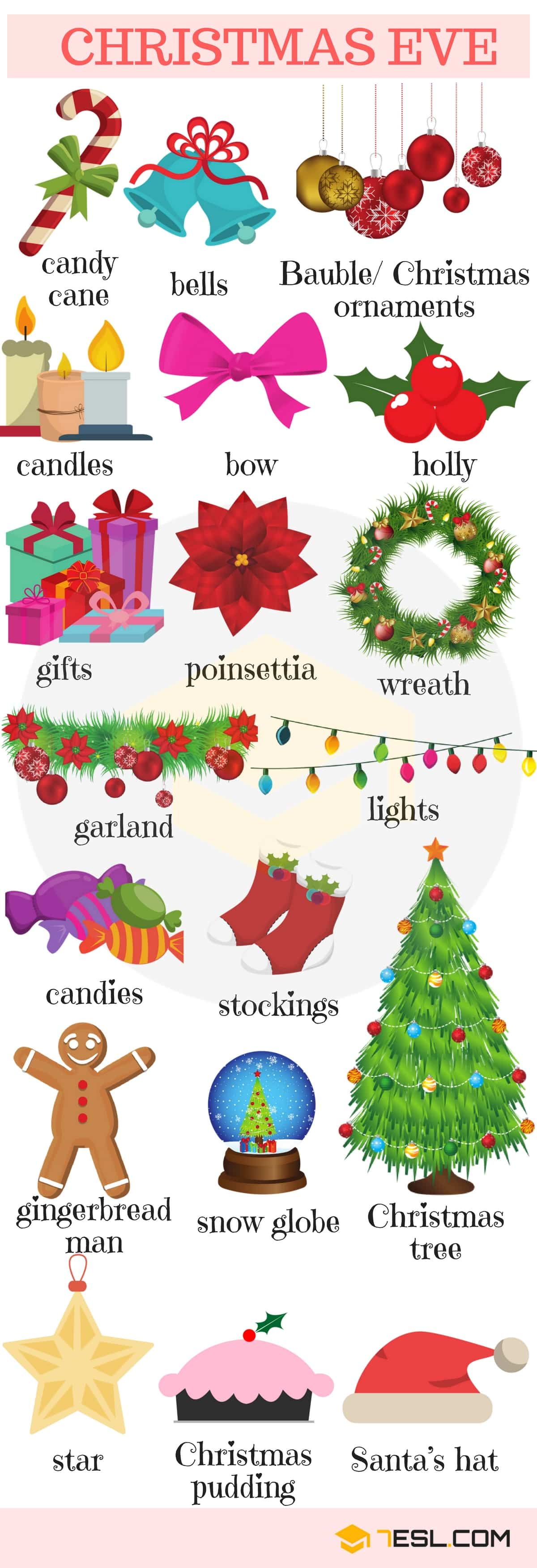 List Of Holidays Holiday Vocabulary Words In English