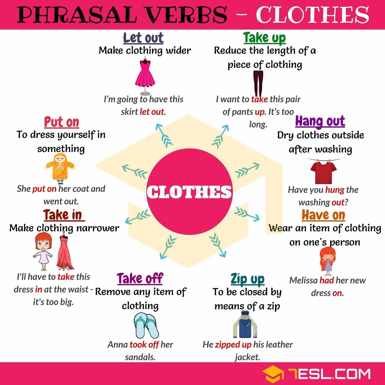 20 Useful Clothing Phrasal Verbs In English 7esl