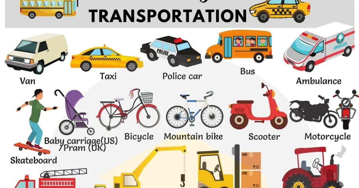 types of vehicles with
