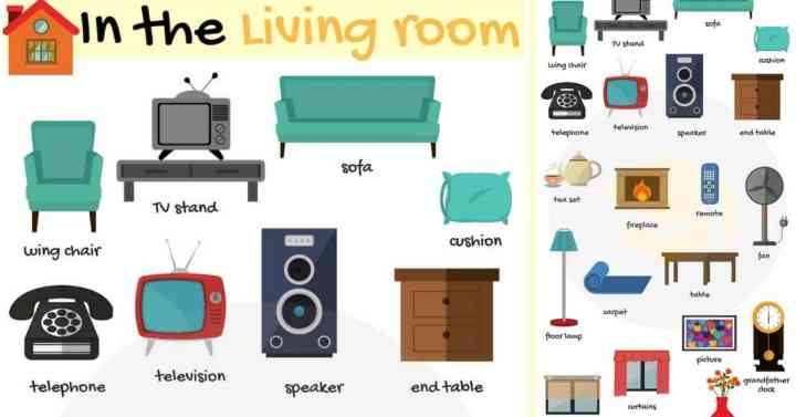 Living Room Furniture Names In English | Gopelling.net