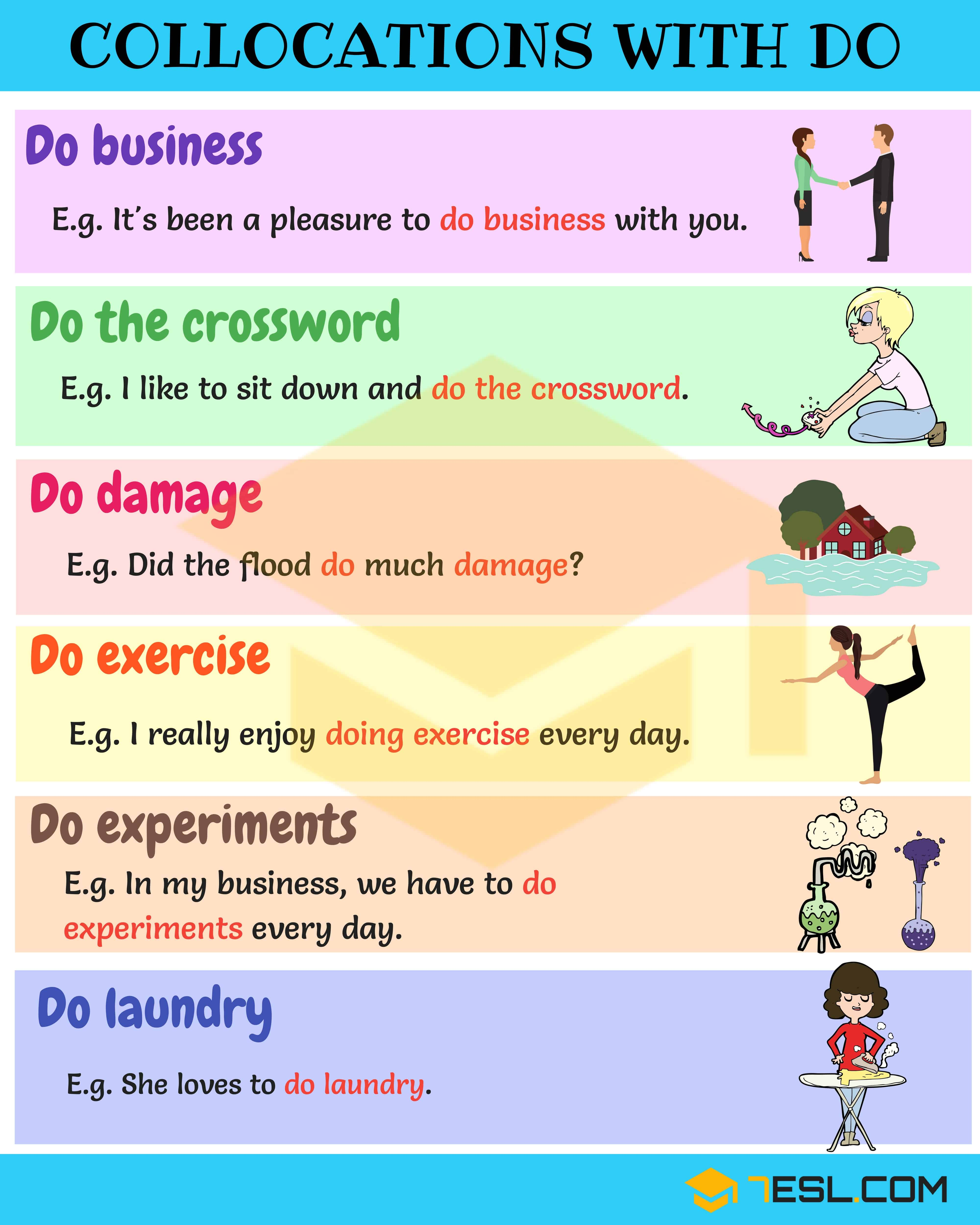 Collocations With Do 42 Useful Expressions With Do