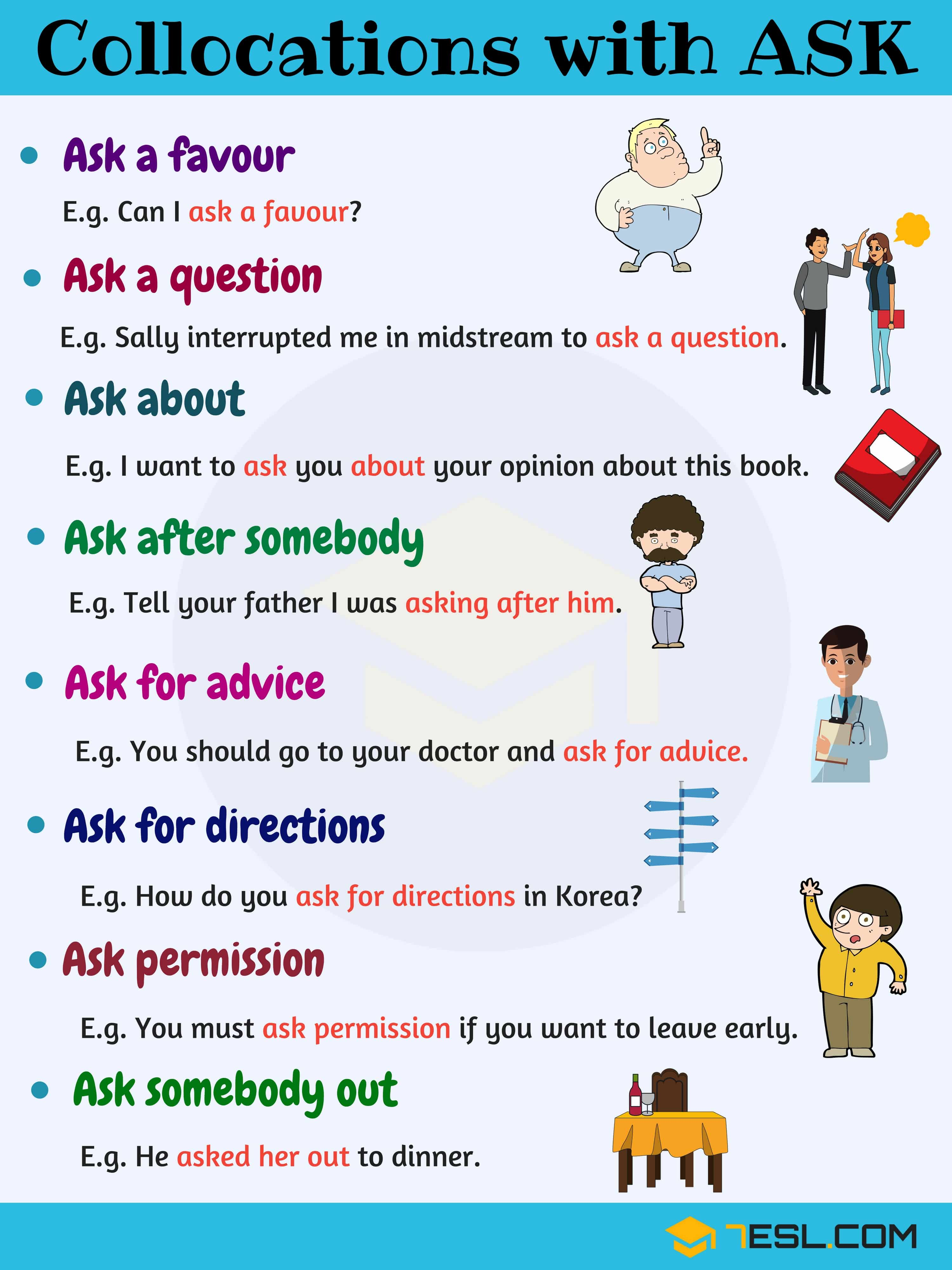 Expressions With Ask 10 Useful Collocations With Ask