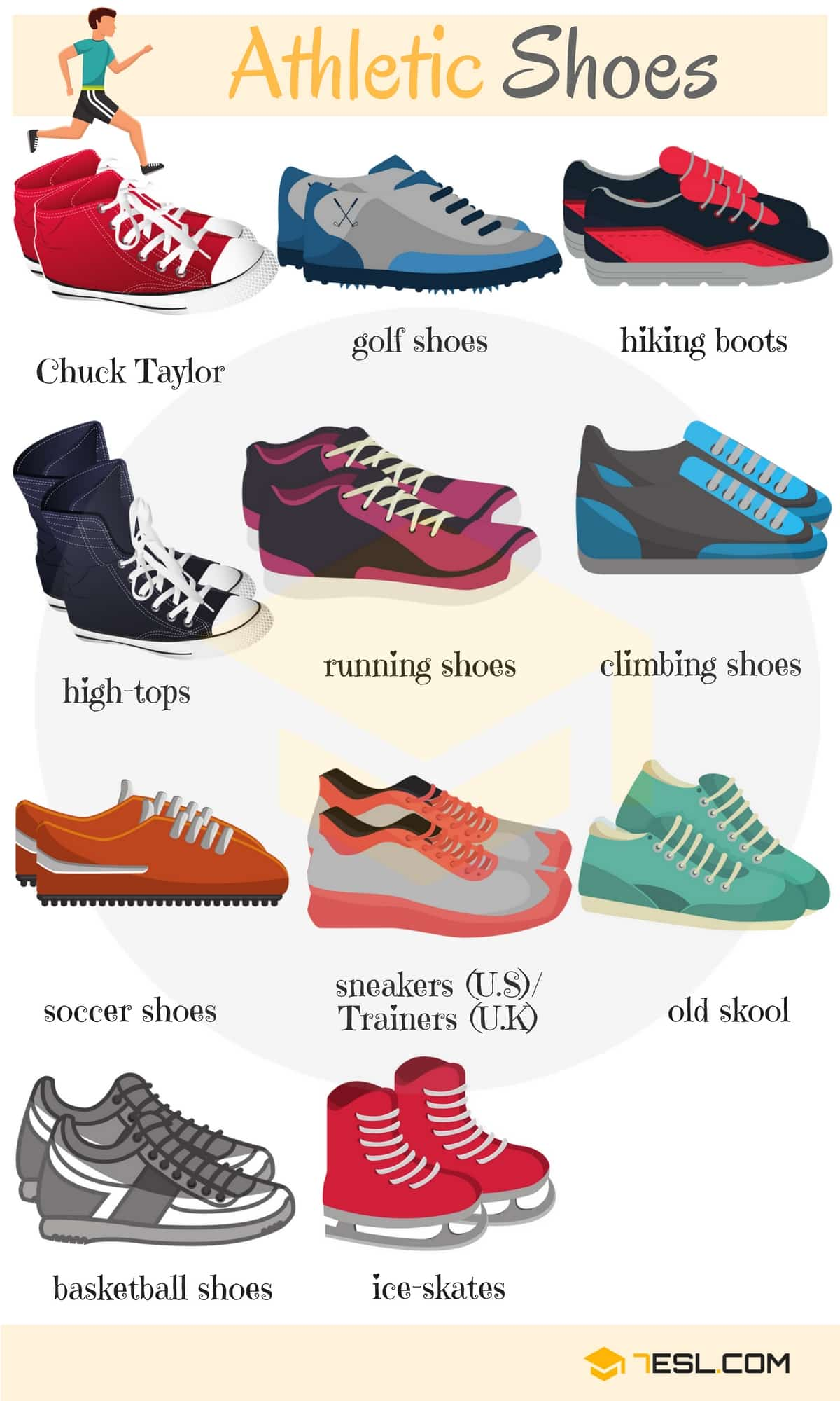 Types Of Shoes Useful List Of Shoes With Pictures