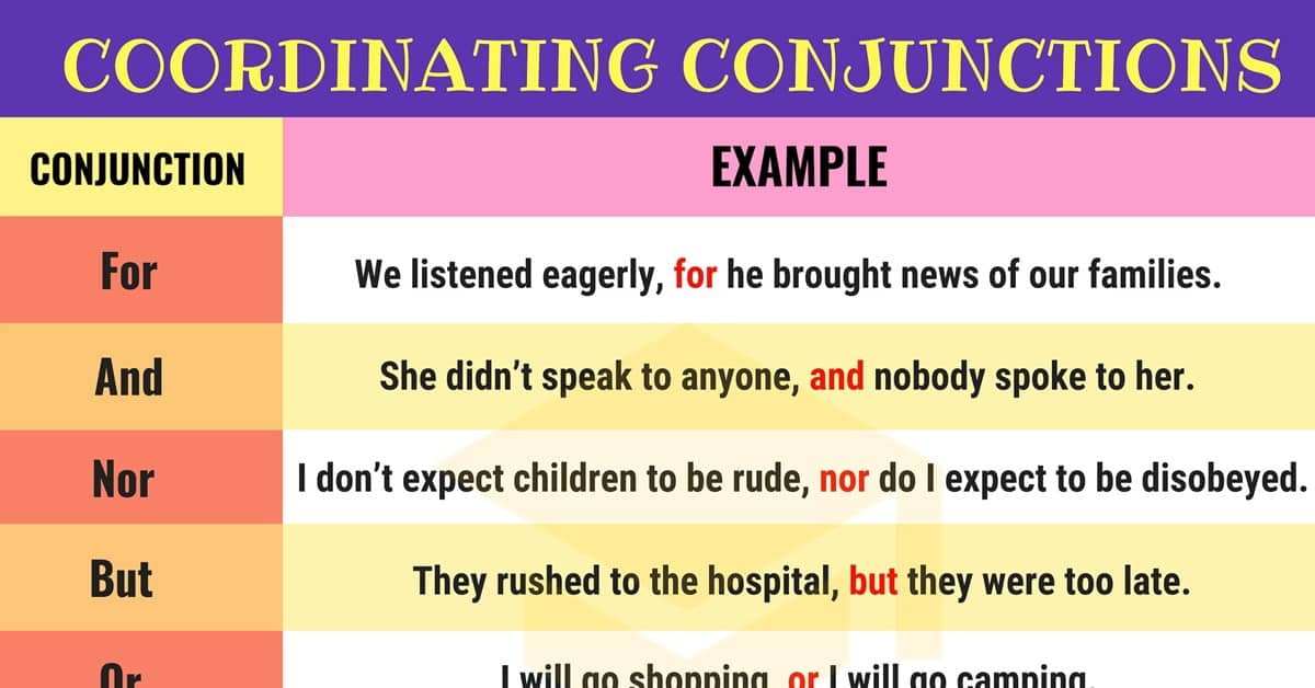 fanboys useful coordinating conjunctions