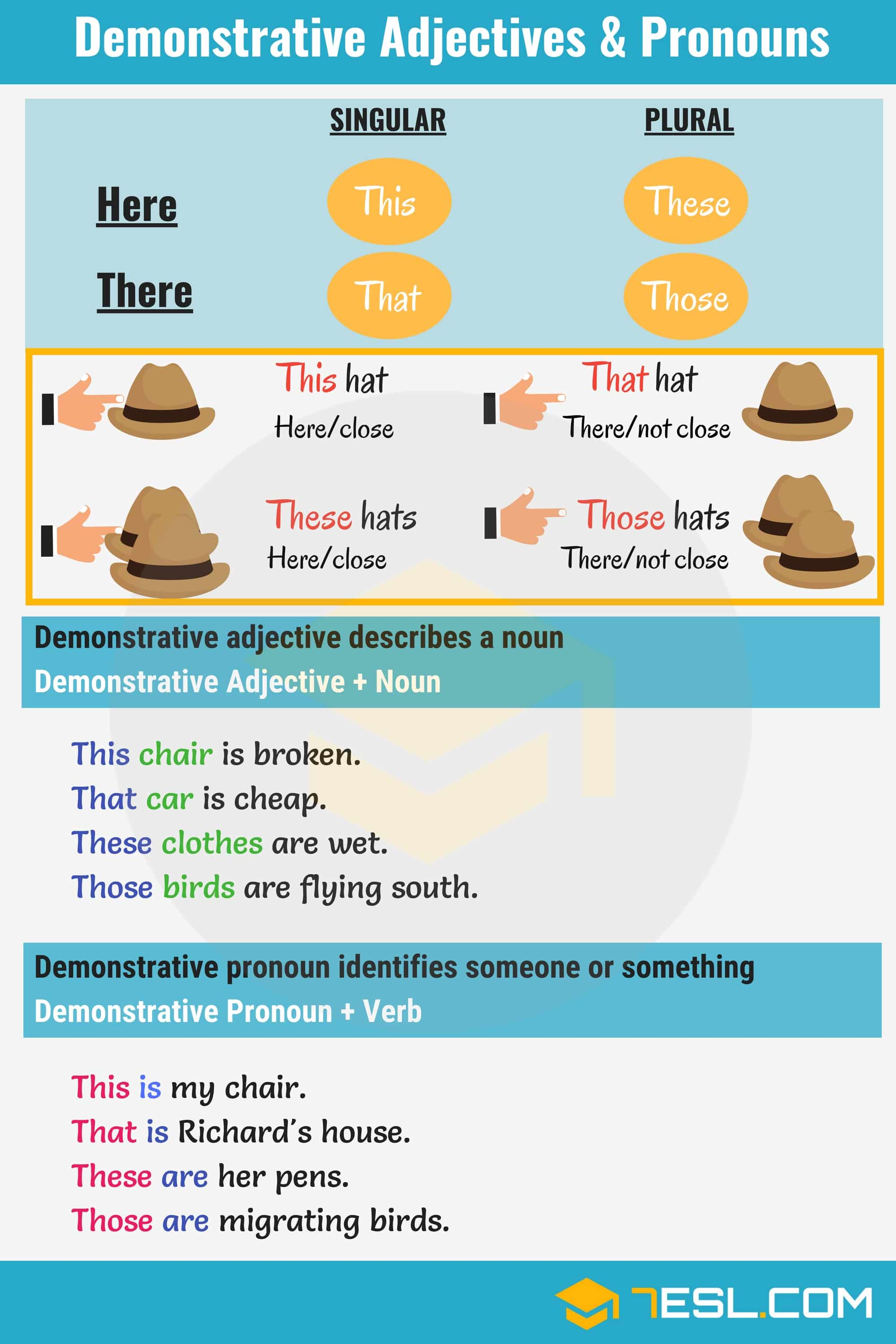 Demonstrative Adjectives Amp Pronouns This That These Those